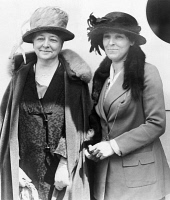 0621358 © Granger - Historical Picture ArchiveMAUD WOOD PARK (1871-1955).   American suffragist and women's rights activist. With Ann Webster (right), departing from an international suffrage meeting in Rome. Photograph, 1923.