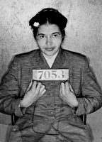0622508 © Granger - Historical Picture ArchiveROSA PARKS (1913-2005).  American civil rights activist. Booking photo taken after her arrest for refusing to surrender a bus seat to a white passenger in Montgomery, Alabama. Photograph, 1 December 1955. Full Credit: Edimedia/WHA/Rue des Archives / Granger, NYC. All Rights Reserved.