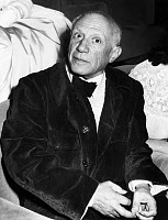 0622621 © Granger - Historical Picture ArchivePABLO PICASSO (1881-1973).  Spanish painter and sculptor. At the Cannes Film Festival. Photograph, 16 April 1953.