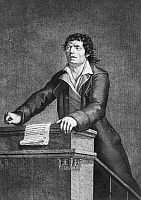 0069816 © Granger - Historical Picture ArchiveJEAN-PAUL MARAT (1743-1793).   French (Swiss-born) physician, journalist, and revolutionary politician. Contemporary French stipple engraving.
