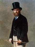 0023232 © Granger - Historical Picture ArchiveEDOUARD MANET (1832-1883).   French painter. Oil on canvas, 1867, by I.H.J.T. Fatin-Latour.