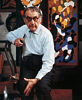 0071016 © Granger - Historical Picture ArchiveMAN RAY (1890-1976).   Originally Emmanuel Rudnitsky. American painter, photographer, and film maker. Photographed by Gisele Freund in 1967.