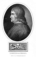 0045960 © Granger - Historical Picture ArchiveLORENZO DE MEDICI   (1449-1492). Florentine statesman and ruler. Stipple engraving by R. Page, 1816.