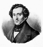 0124972 © Granger - Historical Picture ArchiveFELIX MENDELSSOHN   (1809-1847). German composer, pianist and conductor. Lithograph, German, 19th century, after a painting by Theodor Hildebrandt.