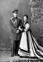 0083179 © Granger - Historical Picture ArchiveMARIA FYODOROVNA   (1847-1928). Née Marie Sophie Frederikke Dagmar. Princess of Denmark; wife of Tsar Alexander III of Russia. The Princess Dagmar with her husband, Grand Duke Alexander, afterward Tsar Alexander III. Photographed c1870.