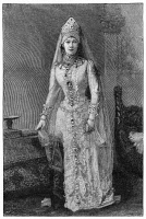 0350454 © Granger - Historical Picture ArchiveMARIA FEODOROVNA   (1847-1928). Née Marie Sophie Frederikke Dagmar. Princess Dagmar of Denmark and Empress consort of Russia. Engraving, c1880.