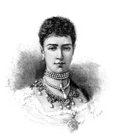 0370376 © Granger - Historical Picture ArchiveMARIA FEODOROVNA   (1847-1928). Née Marie Sophie Frederikke Dagmar. Princess Dagmar of Denmark and Empress consort of Russia. Engraving, English, c1883.