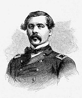 0052328 © Granger - Historical Picture ArchiveTHOMAS FRANCIS MEAGHER   (1823-1867). American politician and soldier. Wood engraving, American, 1867.