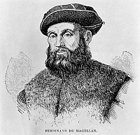 0172684 © Granger - Historical Picture ArchiveFERDINAND MAGELLAN   (c1480-1521). Portuguese navigator. Wood engraving, 19th century.