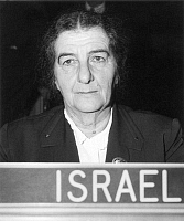 0013655 © Granger - Historical Picture ArchiveGOLDA MEIR (1898-1978).   Israeli stateswoman. At United Nations Headquarters in New York when Minster for Foreign Affairs of Israel, 1956.
