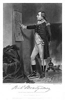 0077830 © Granger - Historical Picture ArchiveRICHARD MONTGOMERY   (1736-1775). American (Irish-born) Revolutionary officer, planning his assault on Quebec, December 1775. Steel engraving, 1858, after a painting by Alonzo Chappel.