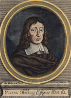 0031531 © Granger - Historical Picture ArchiveJOHN MILTON (1608-1674).   English poet. Copper engraving, 1670, by William Faithorne.