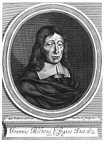 0040641 © Granger - Historical Picture ArchiveJOHN MILTON (1608-1674).   English poet. Copper engraving, 1670, by William Faithorne.