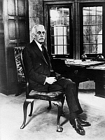 0114625 © Granger - Historical Picture ArchiveANDREW MELLON (1855-1937).   American financier. Photographed at his home in Pittsburgh, Pennsylvania, on his 75th birthday, 24 March 1930.