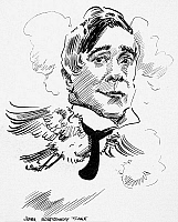 0034961 © Granger - Historical Picture ArchiveMAURICE MAETERLINCK   (1862-1949). Belgian man of letters. Caricature, c1915, by James Montgomery Flagg.