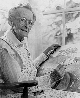 0006849 © Granger - Historical Picture ArchiveANNA MARY ROBERTSON   (1860-1961). Known as Grandma Moses. American folk artist. Photograph, 1950s.
