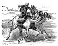0017009 © Granger - Historical Picture ArchiveMOHAMMED (570-632).   Arabian prophet and founder of Islam. Mohammed's flight (hegira) from Mecca to Yathrib (modern Medina), arriving 20 September 622. Wood engraving, 19th century.