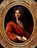 0021357 © Granger - Historical Picture ArchiveMOLIERE (1622-1673).   Pseudonym of Jean Baptiste Poquelin. French actor and playwright. Oil on canvas by Pierre Mignard.