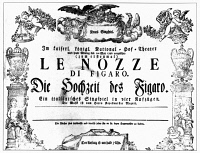 0002665 © Granger - Historical Picture ArchiveMOZART: MARRIAGE OF FIGARO.   Announcement for the first performance of 'Le Nozze di Figaro' (The Marriage of Figaro), 1 May 1786 at Vienna's Burgtheater.