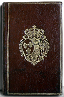 0127271 © Granger - Historical Picture ArchiveMARIE ANTOINETTE: BOOK.  Cover of a book belonging to Marie Antoinette, with her coat of arms, 18th century.