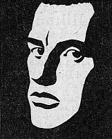 0069937 © Granger - Historical Picture ArchiveVLADIMIR MAYAKOVSKY   (1893-1930). Russian poet. Woodcut by Yuri Mogilevsky.