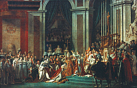 0024830 © Granger - Historical Picture ArchiveCORONATION OF NAPOLEON I.   The Consecration of the Emperor Napoleon and the Coronation of Empress Joséphine on 2 December 1804. Oil on canvas, 1805-07, by Jacques Louis David.
