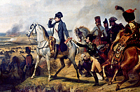 0025408 © Granger - Historical Picture ArchiveNAPOLEON BONAPARTE   (1769-1821). Emperor of France, 1804-1814. Battle of Wagram, 1809. Oil on canvas, 1836, by Horace Vernet.