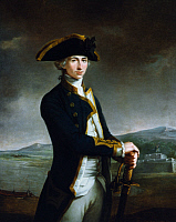 0025161 © Granger - Historical Picture ArchiveHORATIO NELSON (1758-1805).   British naval officer. As a captain, by the San Juan River in Nicaragua. Oil on canvas, c1781, by John Francis Rigaud.