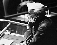 0259919 © Granger - Historical Picture ArchiveJAWAHARLAL NEHRU   (1889-1964). Indian political leader. As Prime Minister of India, addressing the General Assembly of the United Nations in New York City. Photograph, 3 October 1960.
