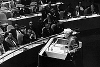 0259928 © Granger - Historical Picture ArchiveJAWAHARLAL NEHRU   (1889-1964). Indian political leader. As Prime Minister of India, addressing the General Assembly of the United Nations in New York City. Photograph, 5 October 1960.