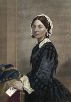 0009705 © Granger - Historical Picture ArchiveFLORENCE NIGHTINGALE   (1820-1910). English nurse, hospital reformer, and philanthropist. Colored engraving, 19th century.