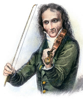 0042536 © Granger - Historical Picture ArchiveNICOLO PAGANINI (1782-1840).   Italian composer and violinist: wood engraving, 19th century.