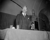 0119208 © Granger - Historical Picture ArchiveFERDINAND PECORA   (1882-1971). American jurist. Photographed giving a speech in Washington, D.C., 1 March 1938, having recently being elected President of the National Lawyers Guild.