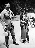 0186642 © Granger - Historical Picture ArchivePICKFORD AND FAIRBANKS.   American actress Mary Pickford (right) and actor Douglas Fairbanks. Photograph, c1920.
