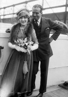 0326138 © Granger - Historical Picture ArchivePICKFORD AND FAIRBANKS.   American actors Mary Pickford and Douglas Fairbanks. Photograph, c1920.