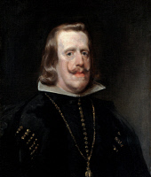 0044265 © Granger - Historical Picture ArchiveKING PHILIP IV OF SPAIN   (1605-1665). King of Spain, 1621-1665. Oil on canvas, c1656, by Diego Velazquez.