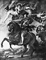 0057844 © Granger - Historical Picture ArchivePHILIP IV (1605-1665).   King of Spain, 1621-1665. Contemporary equestrian portrait (School of Rubens).