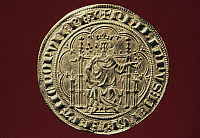 0025237 © Granger - Historical Picture ArchiveKING PHILIP IV OF FRANCE   (1268-1314). Known as Philip the Fair. King of France, 1285-1314. On a gold coin of his reign, 1303.