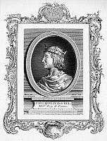 0057824 © Granger - Historical Picture ArchivePHILIP IV OF FRANCE   (1268-1314). Known as Philip the Fair. King of France, 1285-1314. Copper engraving, French, 18th century.