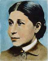 0061877 © Granger - Historical Picture ArchiveSUSAN LA FLESCHE PICOTTE   (1865-1915). American physician and reformer. Oil over a photograph.