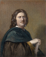 0053646 © Granger - Historical Picture ArchiveNICOLAS POUSSIN (1594-1665).   French painter: steel engraving, English, 19th century, after a self-portrait.