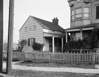 0351397 © Granger - Historical Picture ArchiveNEW YORK: POE COTTAGE.   The cottage in the Bronx, New York, where Edgar Allan Poe lived with his wife, Virginia Clemm, and her mother, Maria, from 1846 to 1849. Photograph, c1915.