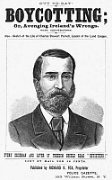 0053129 © Granger - Historical Picture ArchiveCHARLES PARNELL   (1846-1891). Irish nationalist leader. American advertising circular of the 1880s.