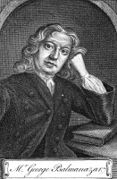 0068412 © Granger - Historical Picture ArchiveGEORGE PSALMANAZAR   (c1679-1763). French literary impostor. Claimed to be prince of the fictional country of Formosa, and wrote