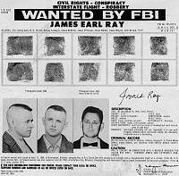 0324666 © Granger - Historical Picture ArchiveJAMES EARL RAY (1928-1998).   American criminal and assassin of Martin Luther King, Jr. Wanted poster, 1968.