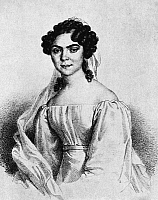 0322167 © Granger - Historical Picture ArchiveNANETTE SCHECHNER-WAAGEN   (1806-1860). German opera singer. Lithograph by Joseph Lanzedelly, mid 19th century.