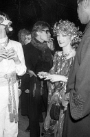 0324949 © Granger - Historical Picture ArchiveYVES SAINT LAURENT   (1936-2008). French fashion designer. With Loulou de la Falaise at the party celebrating her wedding to Thadee Klossovski at Le Palace in Paris, France. Photograph by Giovanni Coruzzi, 13 April 1978. Full credit: AGIP - Rue des Archives / Granger, NYC -- All rights reserved.