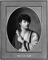 0174773 © Granger - Historical Picture ArchiveFRANCOIS JOSEPH TALMA   (1763-1826). French actor. Miniature painting by Jean-Francois Hollier, 19th century.
