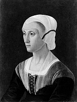 0260121 © Granger - Historical Picture ArchiveLUCREZIA TORNABUONI   (1425-1482). Italian noblewoman. Painting by Domenico Ghirlandaio, 1475.