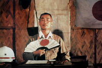 0409691 © Granger - Historical Picture ArchiveRETURN FROM RIVER KWAI.   George Takei in 'Return from the River Kwai,' directed by Andrew McLaglen, 1989.
